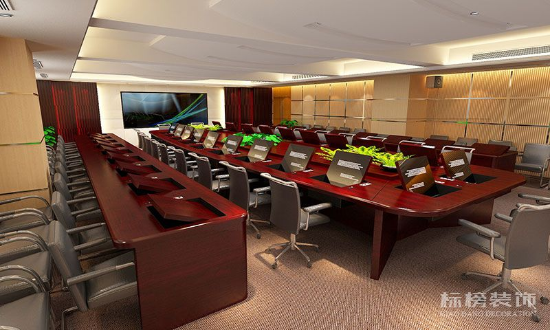 罗湖区委会议室装修3