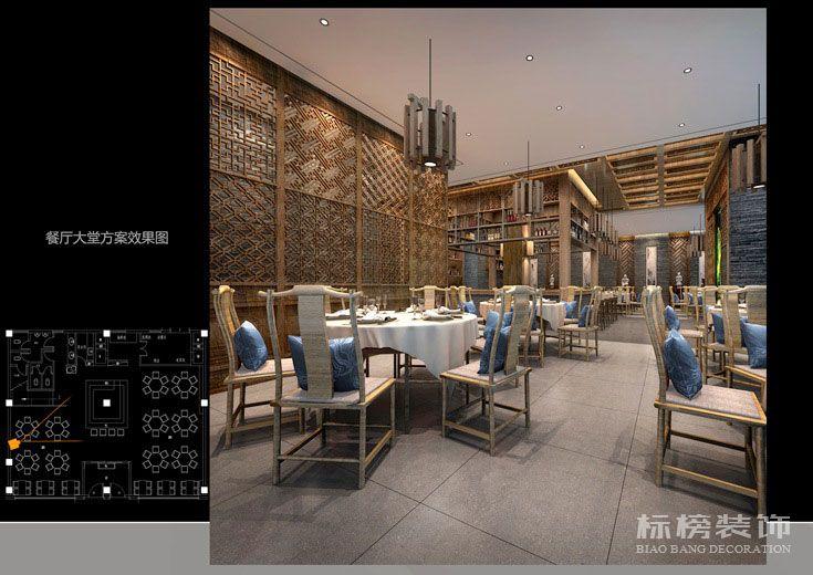 轩宇中式餐厅装修3