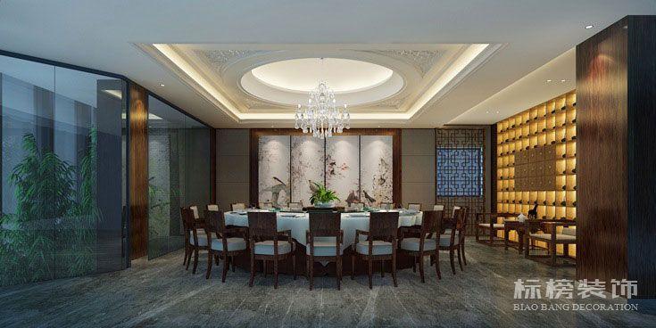 轩宇中式餐厅装修4